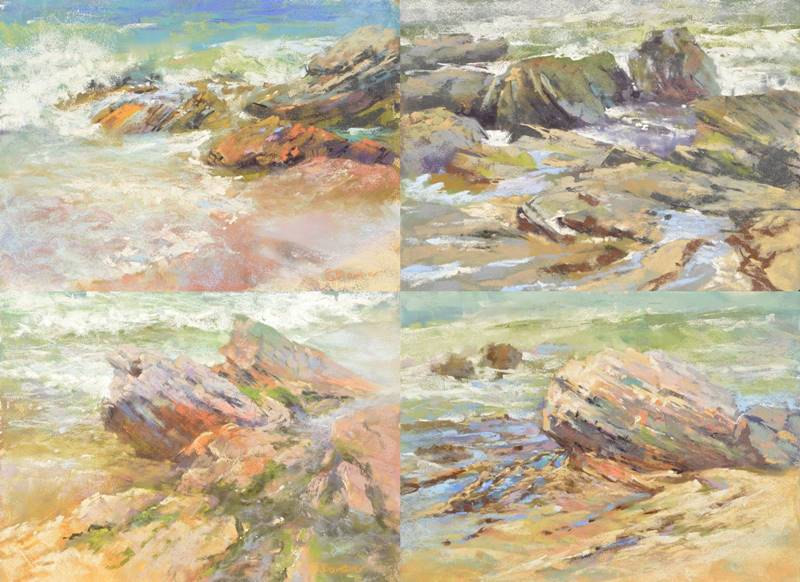 plein air seascapes in soft pastel by Sharon Bamber