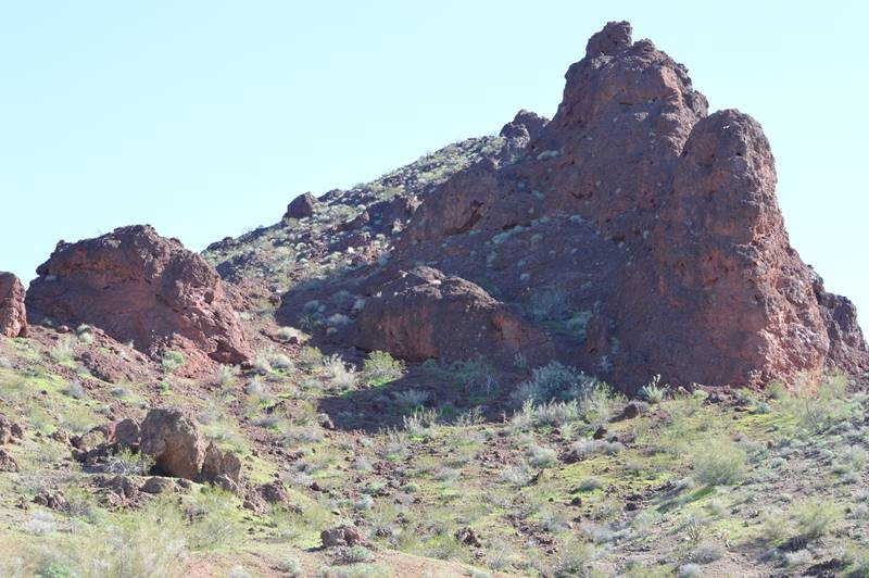 photo of red rocky outcrop by Sharon Bamber