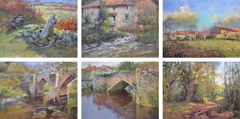 plein air landscape paintings in soft pastel by sharon bamber