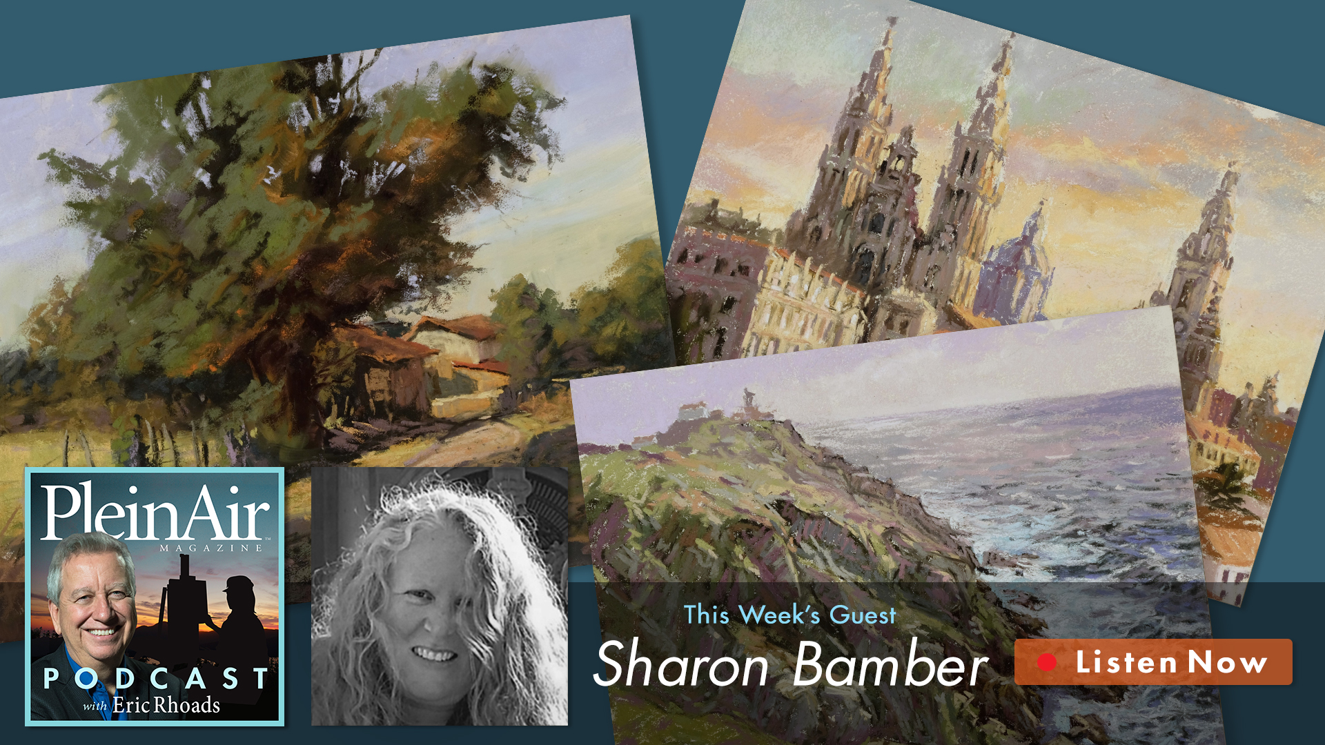 Hear Sharon Bamber talk to Eric Rhoads on the Plein Air Podcast