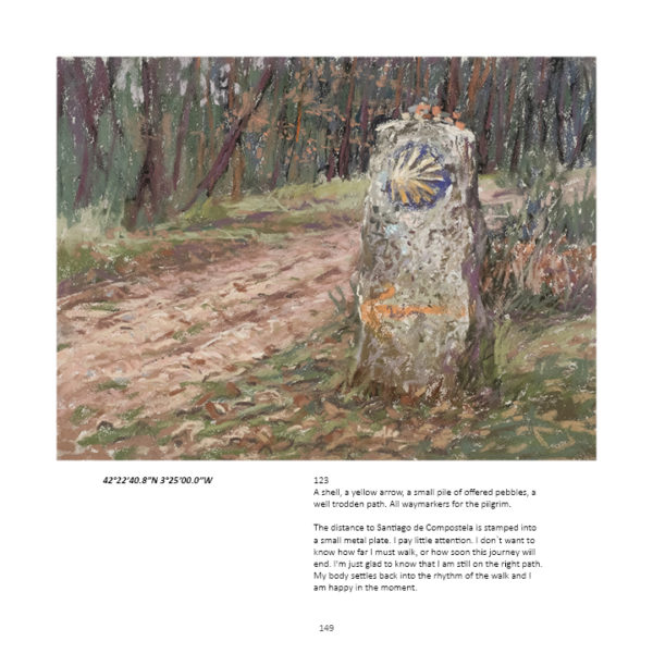 book by sharon bamber 1000 miles walking and painting the way of saint james pg 149