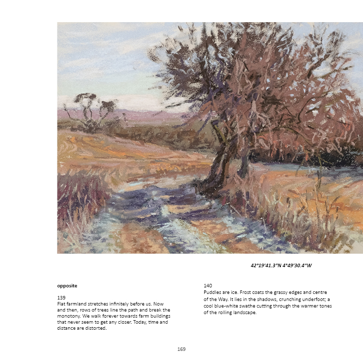 book by sharon bamber 1000 miles walking and painting the way of saint james pg 169
