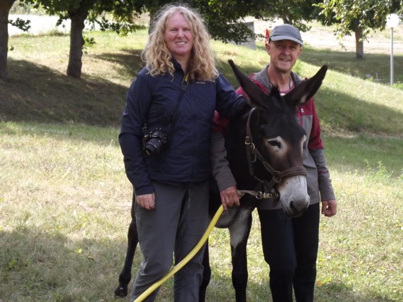 sharon, simon and donkey dupon 1000 miles walking & painting the way of st james