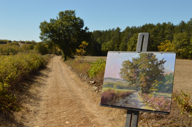 pastel painting by sharon bamber 1000 miles walking & painting the way of saint james